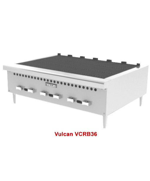 Vulcan VCRB Charbroiler, 36 inch (Natural Gas or LP)