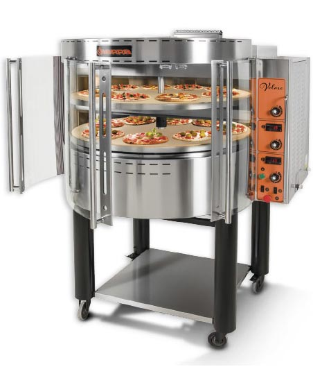 Gas Volare Pizza Oven with rotating ceramic decks, Propane