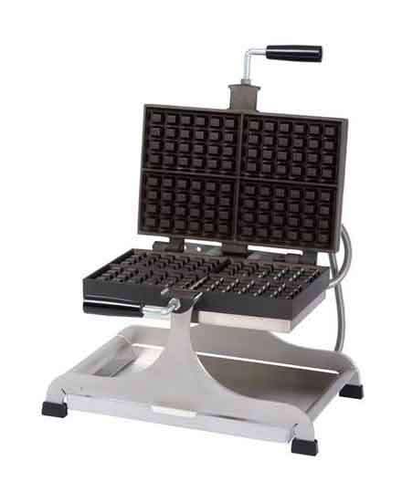 Krampouz Swivel type Waffle Maker, Belgian, Double (240 Volt)