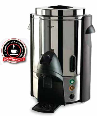 Coffee Urn, 60 cup, Stainless Steel, 120 volts