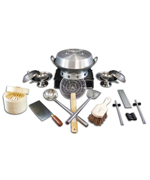 Wok Kit, Professional 33 piece set, includes 14 inch Wok