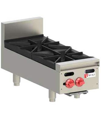 Wolf Hotplate, Countertop, 2 burner, Natural Gas