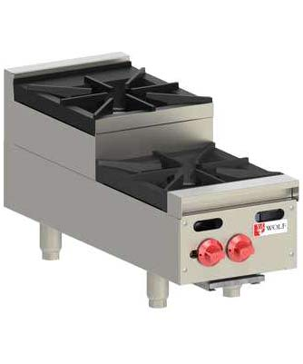 Wolf Hotplate, Step Up Model, 2 burner, Natural Gas