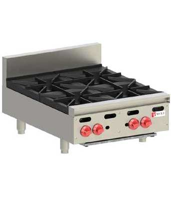 Wolf Hotplate, Countertop, 4 burner, Natural Gas