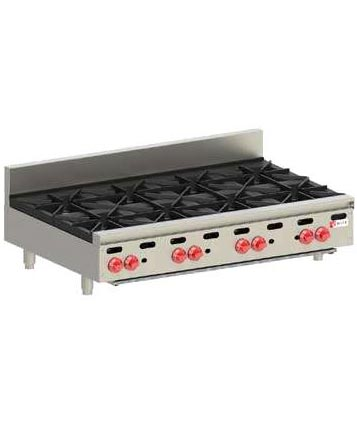 Wolf Hotplate, Countertop, 8 burner, Natural Gas