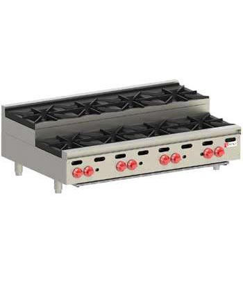 Wolf Hotplate, Step Up model, 8 burner, Natural Gas